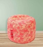 Abstract Design Large Pouffe in Multicolour