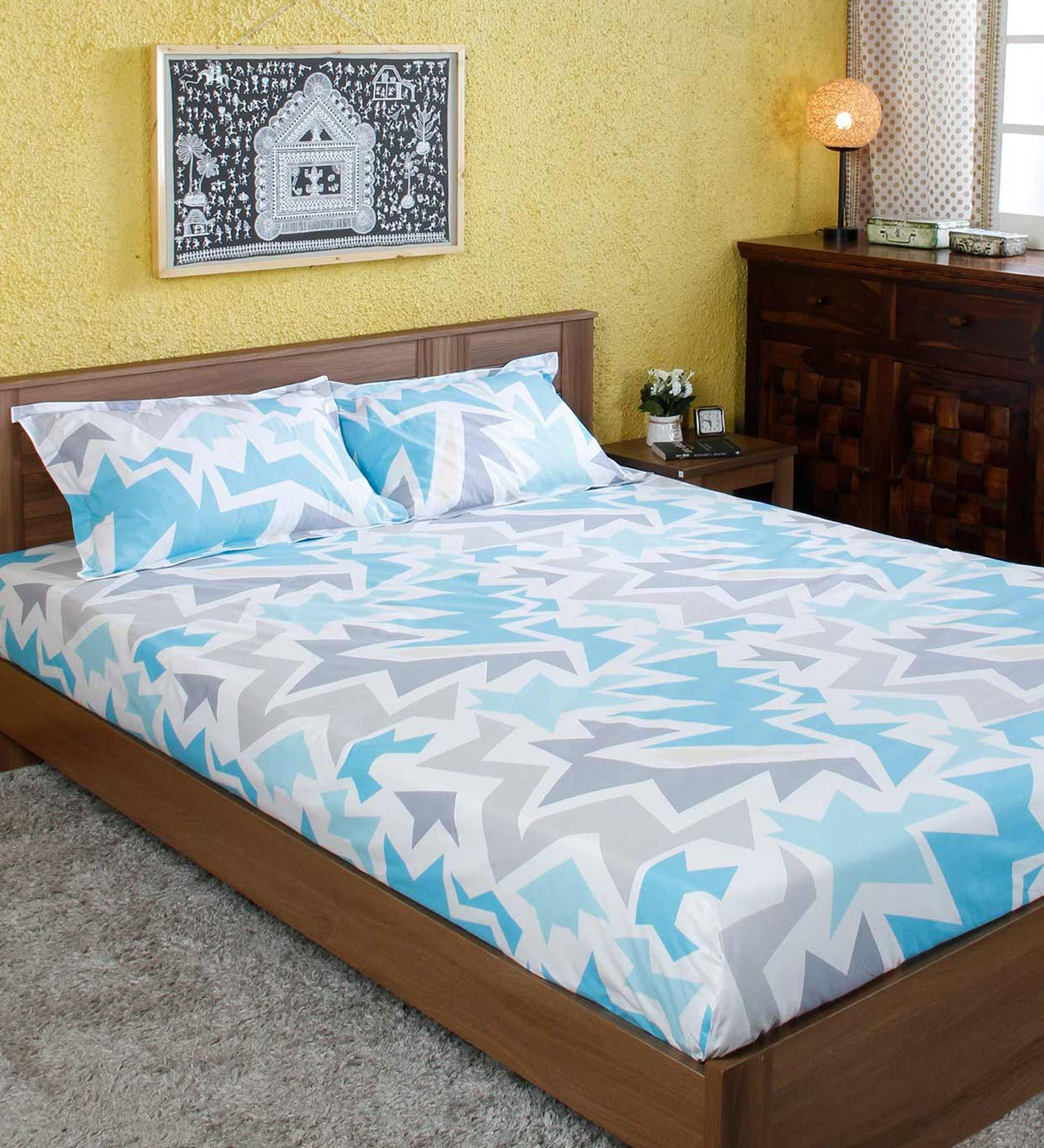 Abstract Pattern 160 Tc Cotton Double Size Bedsheet With 2 Pillow Covers By Ahmedabad Cotton Buy Online In Dominica At Dominica Desertcart Com Productid 144810674