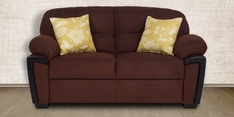 Abu Dhabi Royale Two Seater Sofa in Brown Colour