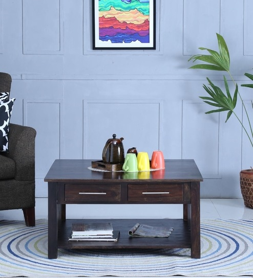 Abbey Coffee Table in Warm Chestnut Finish by Woodsworth
