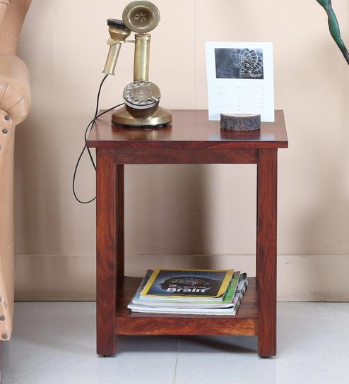 Abbey End Table in Honey Oak Finish by Woodsworth
