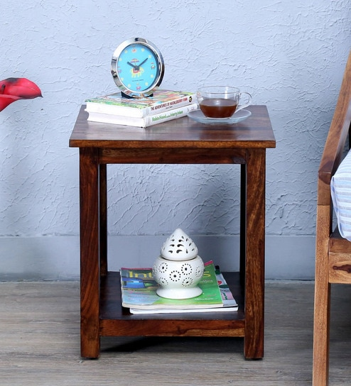Abbey End Table in Provincial Teak Finish by Woodsworth