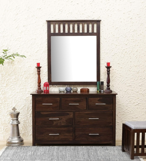 0b484b4c9 Buy Abbey Solid Wood Dressing Table with Mirror in Warm Chestnut Finish by  Woodsworth Online - Contemporary Dressing Tables - Dressing Tables -  Furniture ...