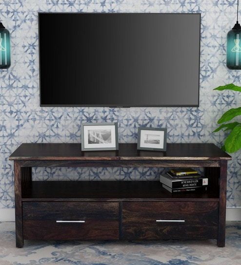 various colors d7eaa 39f5c Abbey Solid Wood TV Console in Warm Chestnut Finish by Woodsworth