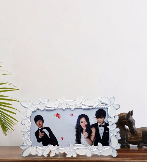 Abs Plastic 11 X 5 5 Inches Resin Rectangle Table Top Photo Frame By Golden  Peacock