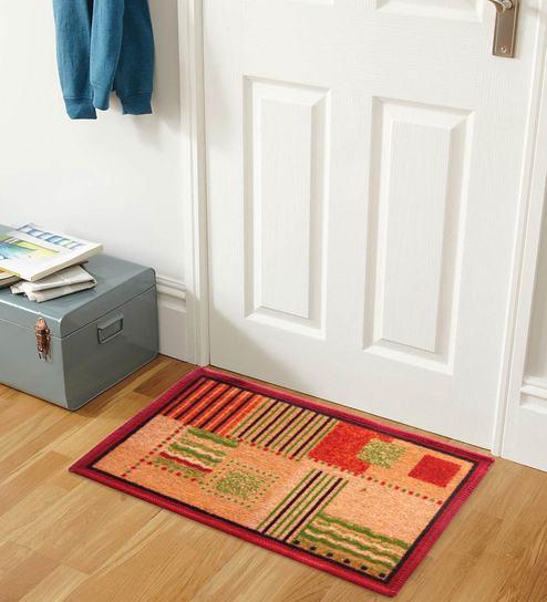 Abstract Nylon 15 x 23 inch Anti Skid Door mat By Status