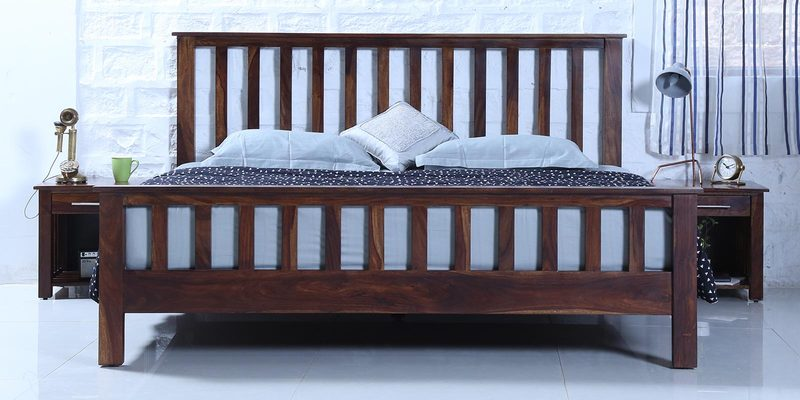 Abbey King Bed in Provincial Teak Finish by Woodsworth