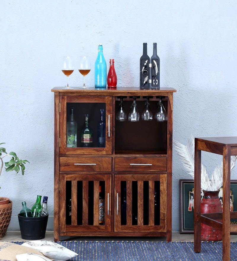 Abbey Bar Cabinet in Provincial Teak Finish by Woodsworth