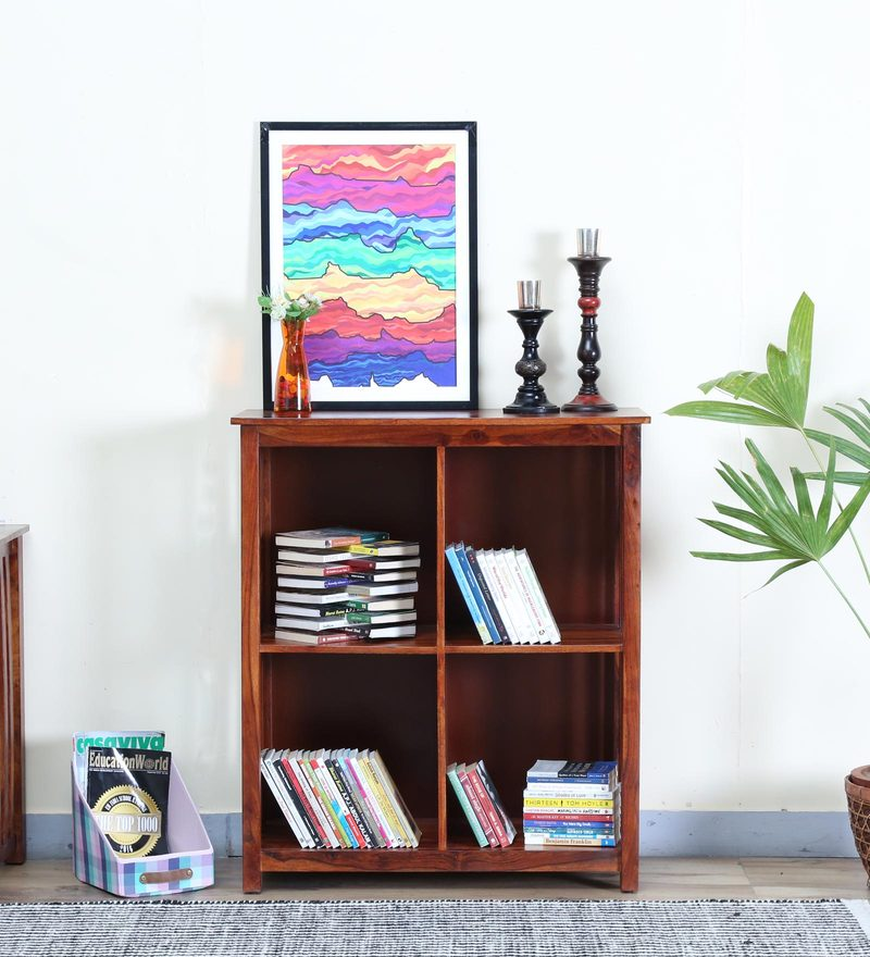 Abbey Book Shelf in Honey Oak Finish by Woodsworth