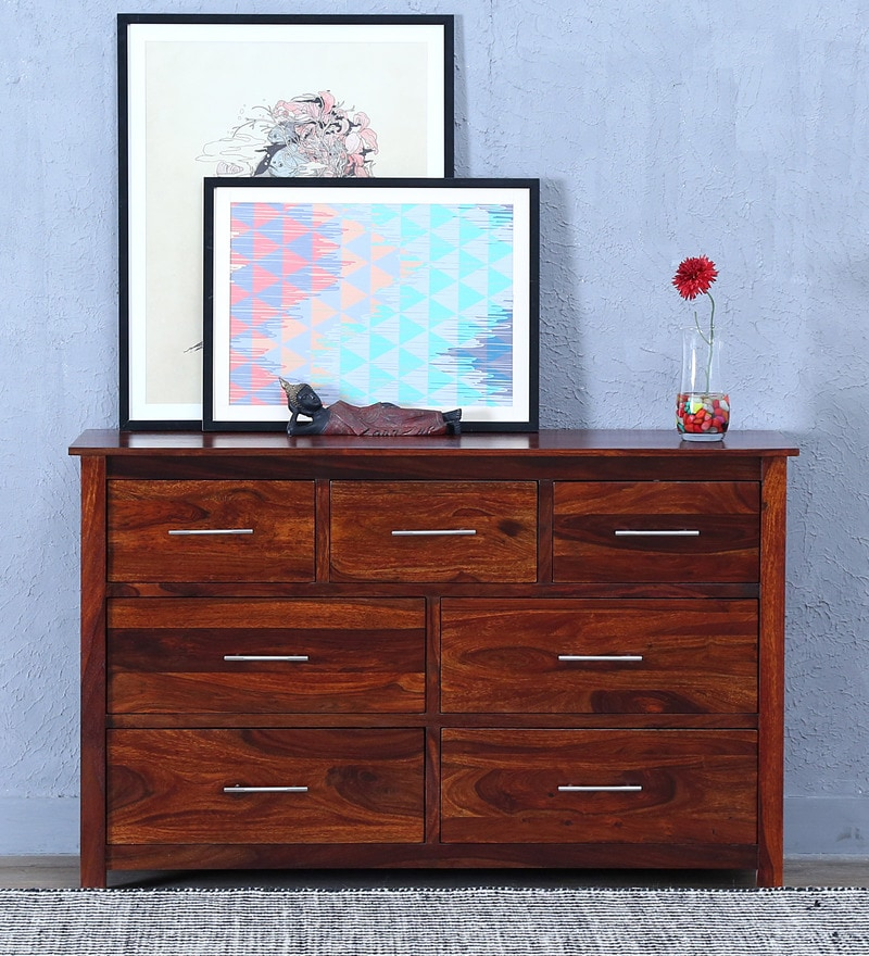 Abbey Chest Of Drawer in Honey Oak Finish by Woodsworth