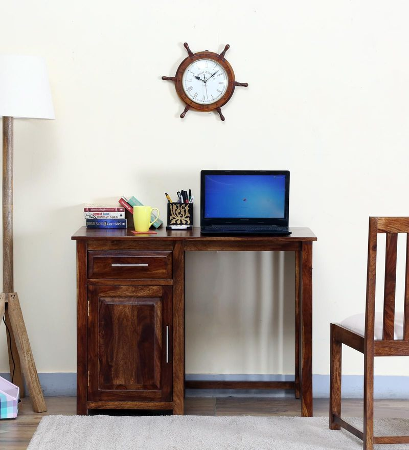Abbey Study & Laptop Table in Provincial Teak Finish by Woodsworth
