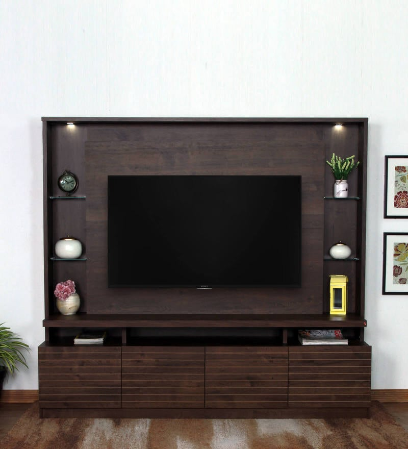 Buy Abril Tv Unit In Rustic Brown Finish By Casacraft