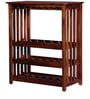 Abbey Wine Rack in Honey Oak Finish by Woodsworth