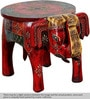 Abharamu Hand Painted Stool by Mudramark