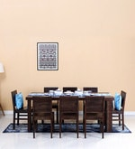 Acropolis Solid Wood Eight Seater Dining Set in Warm Chestnut Finish