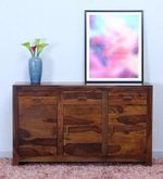 Acropolis Solid Wood Cabinet in Provincial Teak Finish
