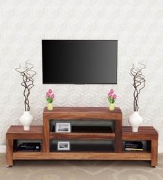 386285ffe Acropolis Solid Wood TV Unit in Rustic Teak Finish ...