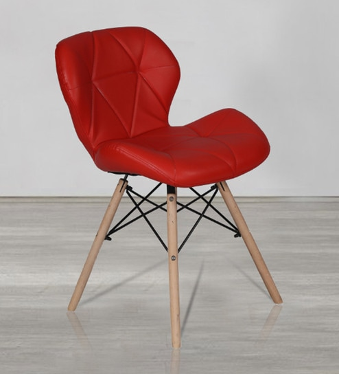 Buy Accent Chair In Red Leatherette By Lakdi Online Statement