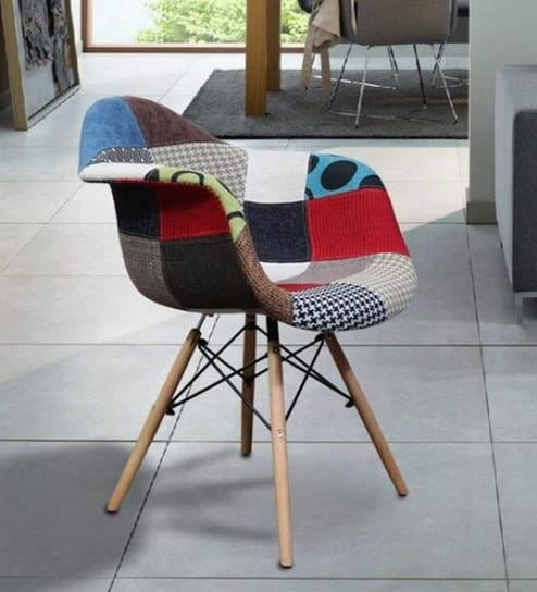 Remarkable Accent Chair With Multicolour Patches By Home City Caraccident5 Cool Chair Designs And Ideas Caraccident5Info
