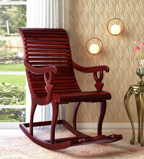 Super Acklom Solid Wood Rocking Chair In Honey Oak Finish By Amberville Gamerscity Chair Design For Home Gamerscityorg
