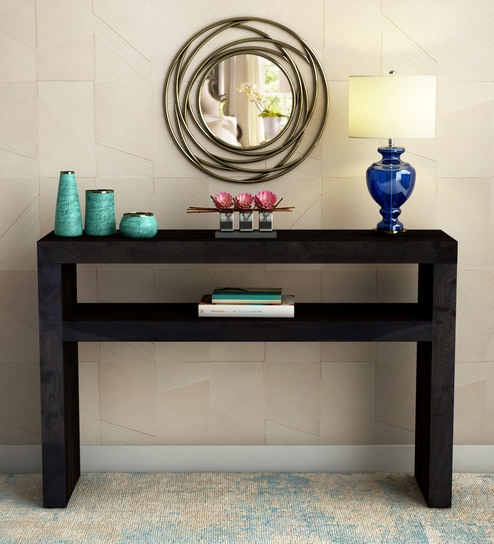 Stupendous Acropolis Solid Wood Console Table In Warm Chestnut Finish By Woodsworth Download Free Architecture Designs Scobabritishbridgeorg