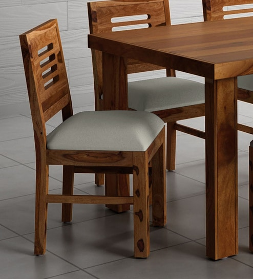Acropolis Solid Wood Dining Chair Set Of 2 In Rustic Teak Finish By Woodsworth