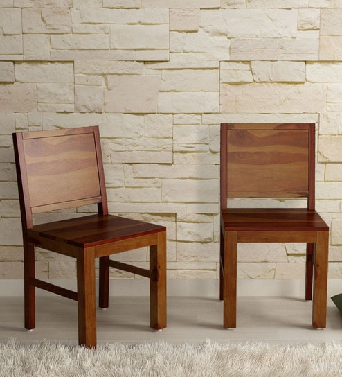 Brilliant Acropolis Solid Wood Dining Chair Set Of 2 In Provincial Teak Finish By Woodsworth Download Free Architecture Designs Intelgarnamadebymaigaardcom