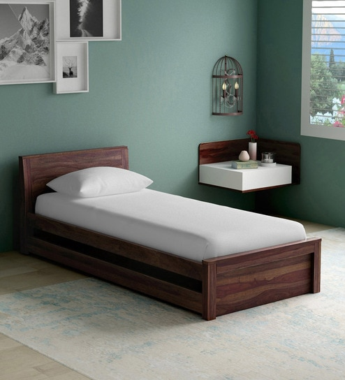 . Acropolis Solid Wood Trundle Bed in Provincial Teak Finish by Woodsworth