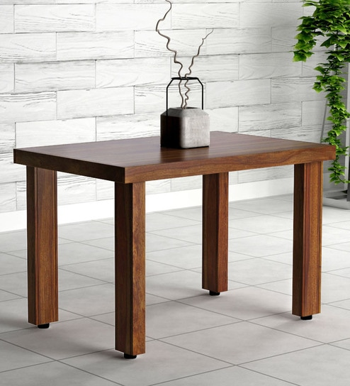 Acropolis Solid Wood Two Seater Dining Table In Provincial Teak Finish By Woodsworth