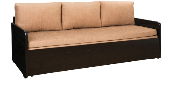 Ace Sofa Cum Bed With Storage In Dusty Brown Colour By Design Monkee (Incl.