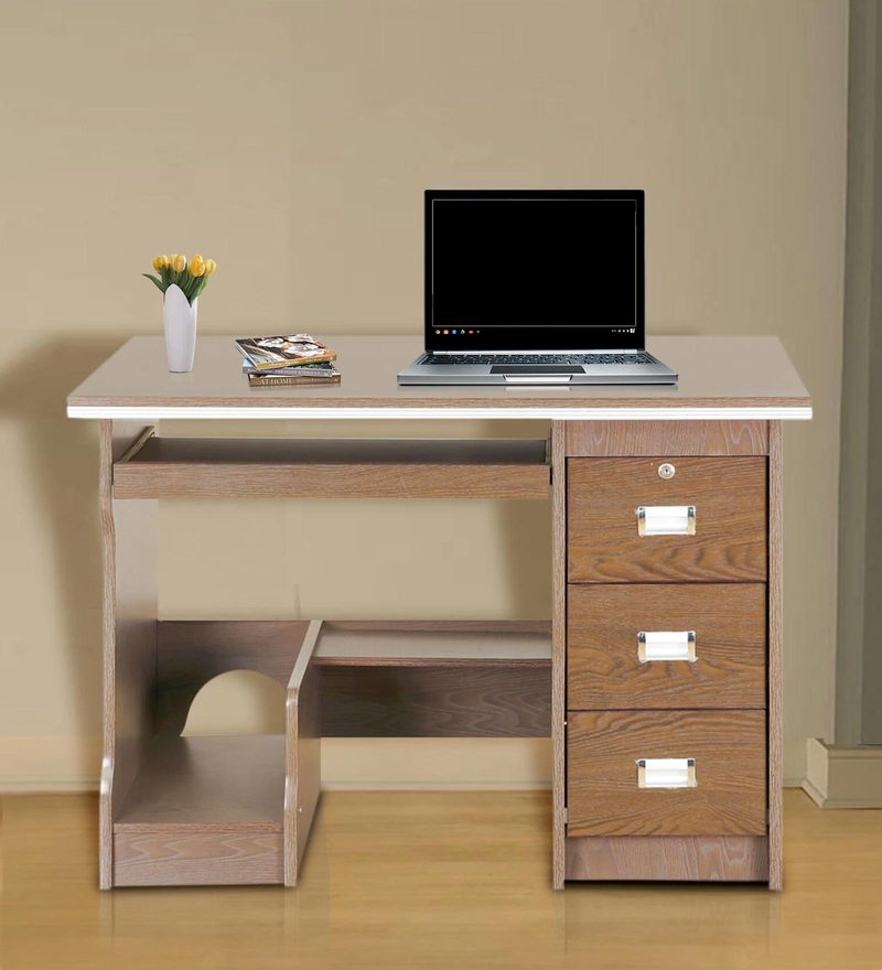 Buy Acacia Study Table In Chocolate Finish By Royal Oak