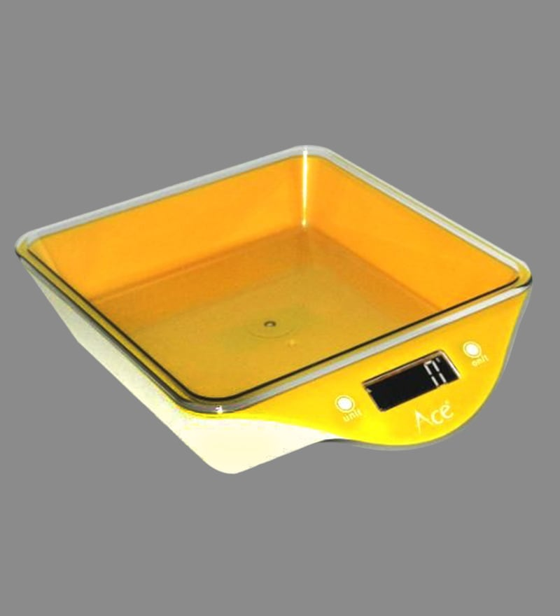 Ace Yellow ABS Yellow Weighing Scale