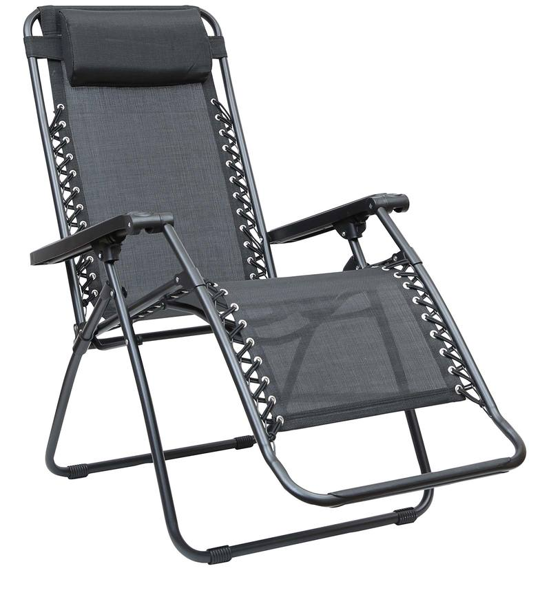 Buy Acer Folding Outdoor Chair in Black Colour by HomeTown line Chairs