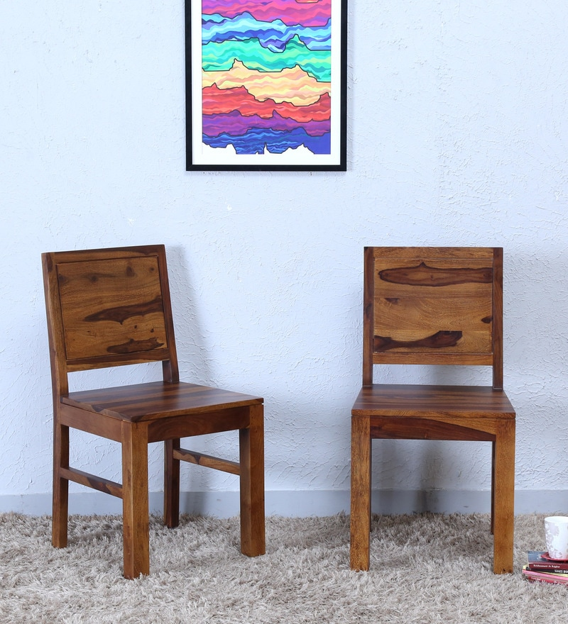 Acropolis Dining Chair (Set of Two) in Provincial Teak Finish by Woodsworth