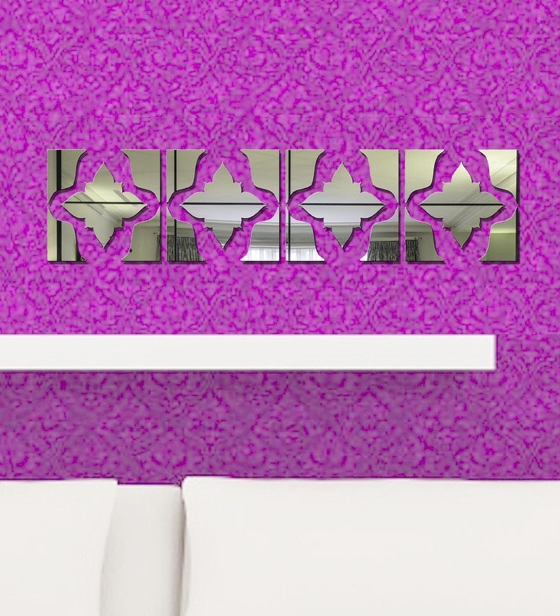 Acrylic Silver Border Pattern Wall Decals by Sehaz Artworks