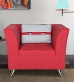 Iowa One Seater Sofa in Crimson Red Colour