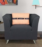 Iowa One Seater Sofa in Steel Grey Colour