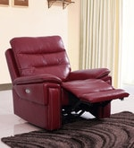 Adolf One Seater Power Reclincer in Red Colour