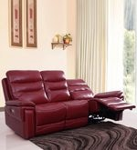 Adolf Three Seater Automatic Recliner in Red Colour