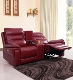 Adolf Two Seater Power Reclincer in Red Colour