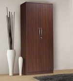 Adora Two Door Wardrobe in Walnut Finish