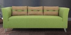Iowa Three Seater Sofa in Pear Green Colour