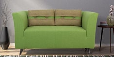 Iowa Two Seater Sofa in Pear Green Colour