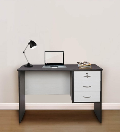 Admire Nano Dual Tone Study Table With Three Drawers By Pine Crest