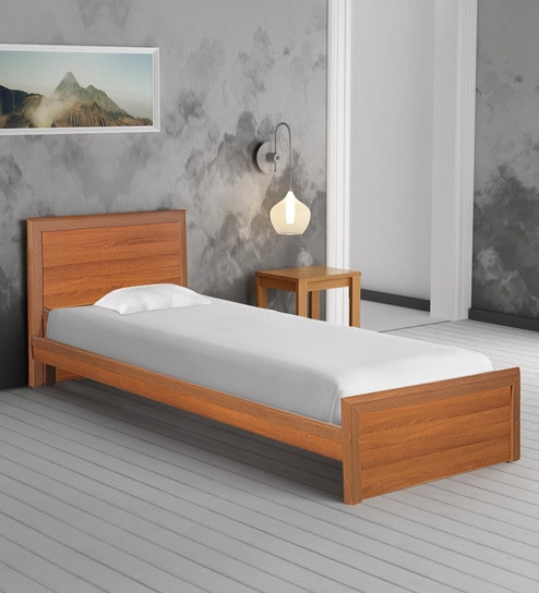 e8aa5f026c8 Buy Adriana Single Bed in Walnut Finish by Godrej Interio Online - Modern  Single Beds - Beds - Furniture - Pepperfry Product