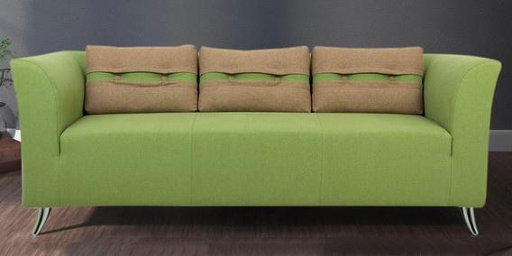 Superbe Iowa Three Seater Sofa In Pear Green Colour By Furnitech