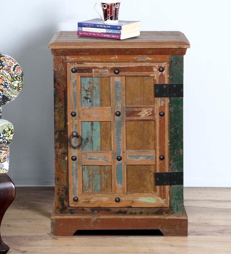 Adele End Table in Distress Finish by Bohemiana
