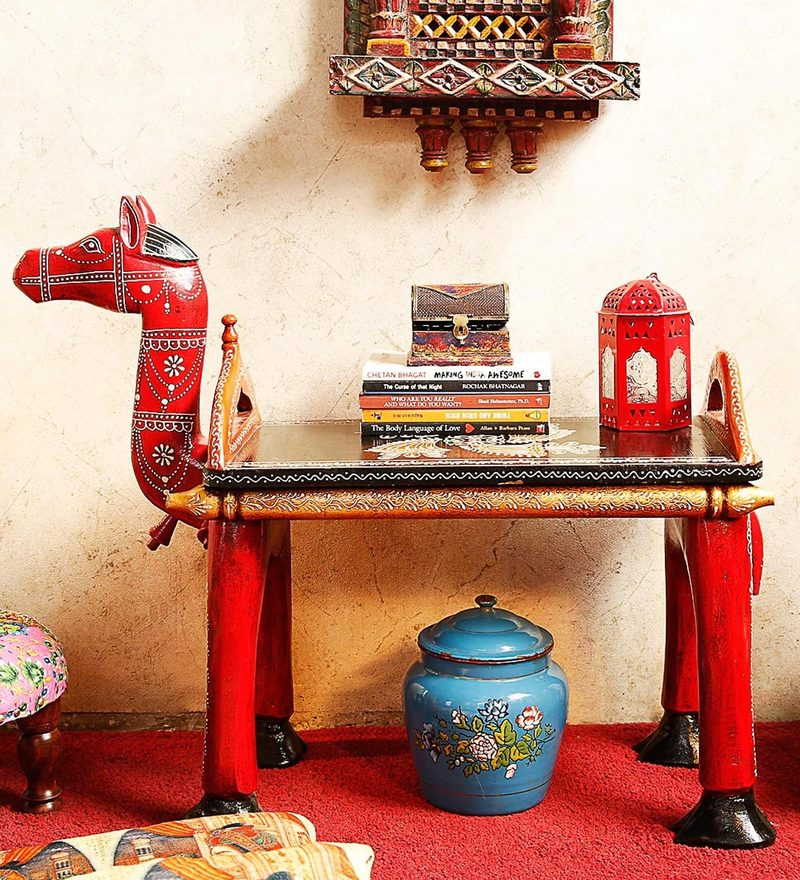 Adhvaga End Cum Coffee Table in by Mudramark