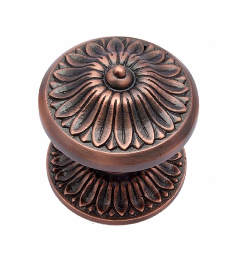 Adonai Hardware Manoah Brass 2.8 x 2.9 x 3 Inch Door Knob with Rose