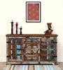 Adele Solid Wood Cabinet in Distress Finish by Bohemiana
